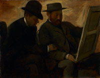 Edgar Degas Paul Lafond and Alphonse Cherfils Examining a Painting