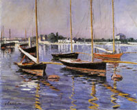 Gustave Caillebotte Boats on the Seine at Argenteuil