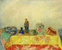 James Ensor Chinese Porcelain Figure, Pots and Seashells