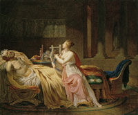 Circle of Jean Baptiste Regnault The Sleep of Anacreon