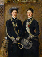 John Everett Millais The Twins, Kate and Grace Hoare
