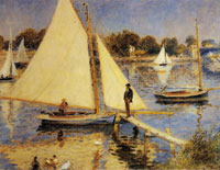 Pierre-Auguste Renoir Sailboats at Argenteuil