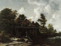 Jacob van Ruisdael Water Mill at the Edge of a Wood