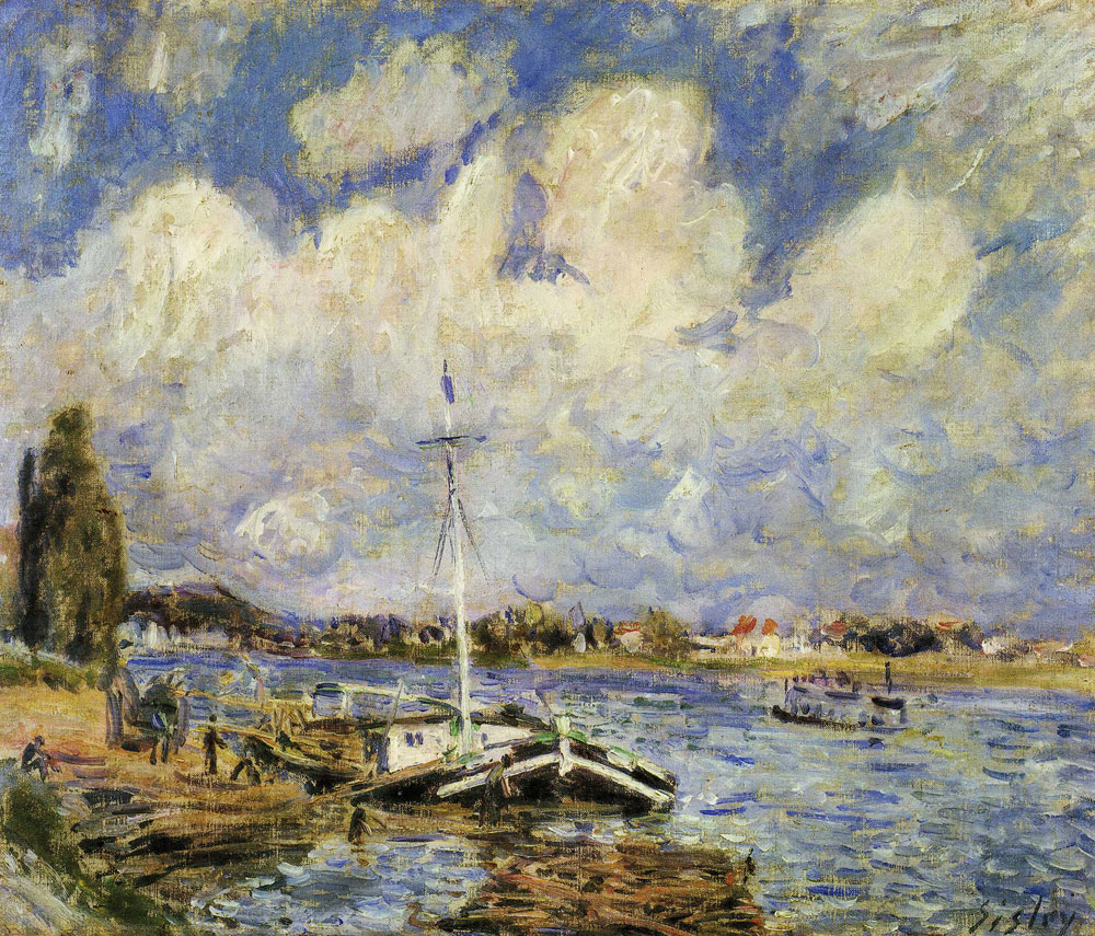 Alfred Sisley - Boats on the Seine