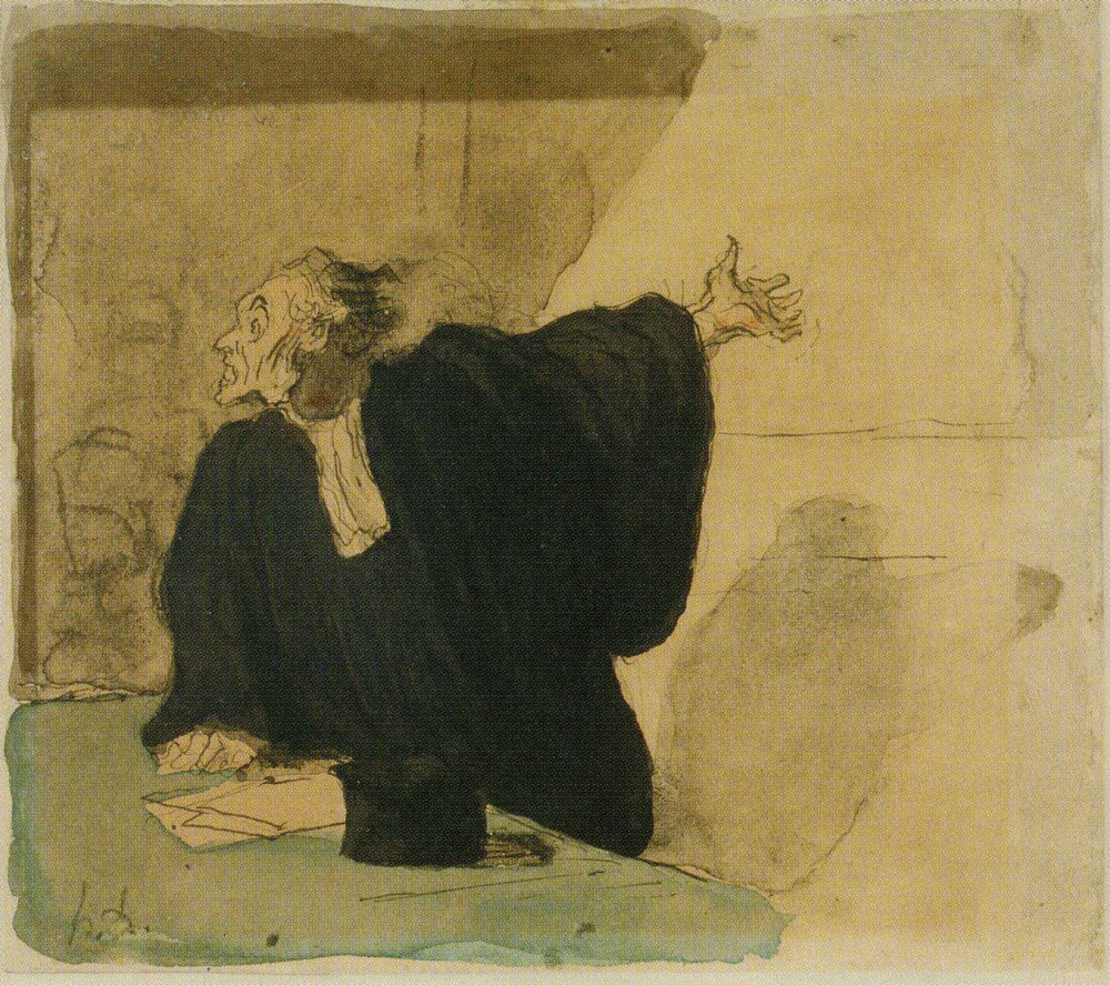 Honoré Daumier - A Barrister Pleads the Case