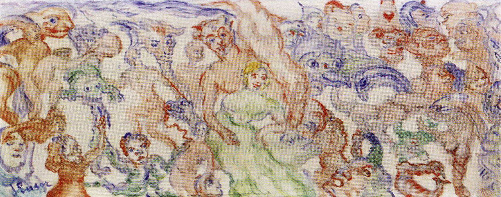 James Ensor - Intertwining, Incoherent, Interlarded Monsters (B)