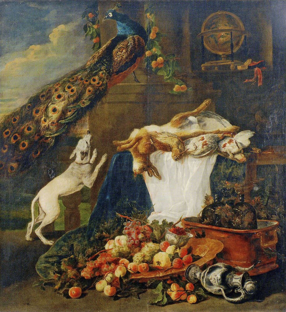 Copy after Jan Fyt - Still Life with Animals and Fruit