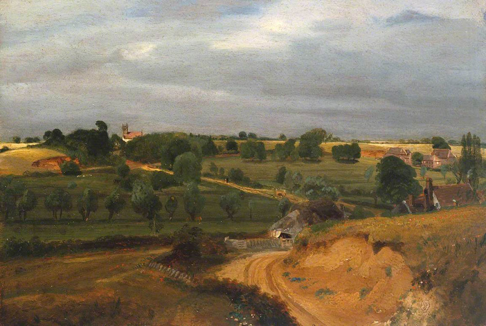 John Constable - Brightwell Church and Village