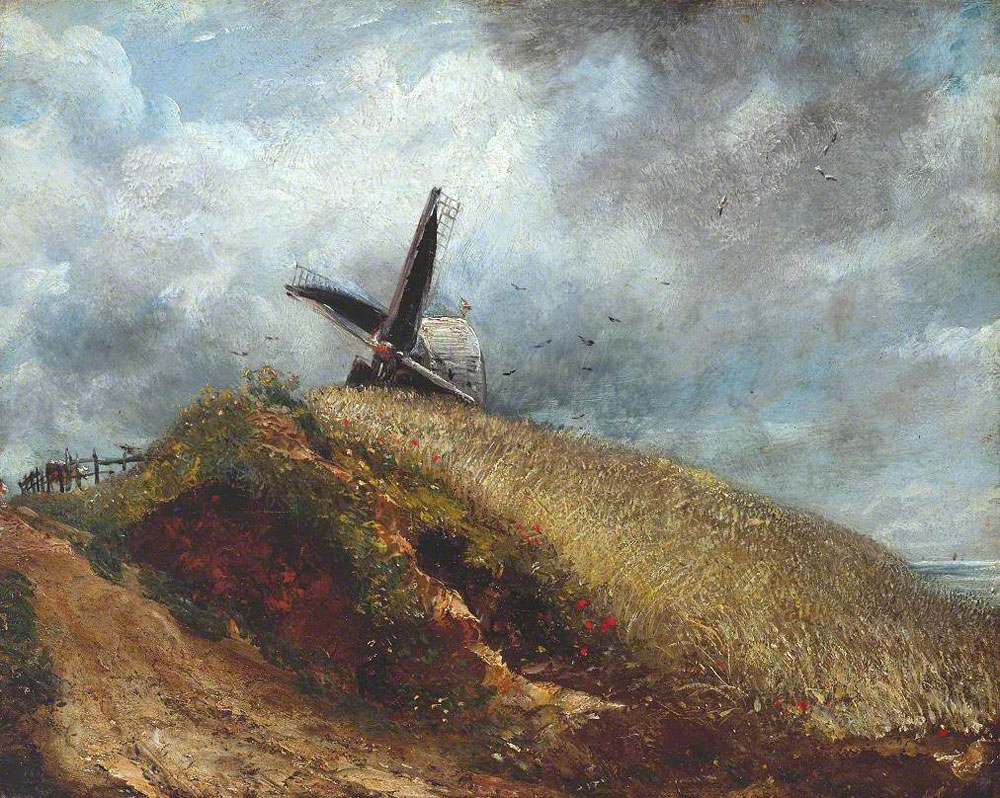 John Constable - A Windmill near Brighton