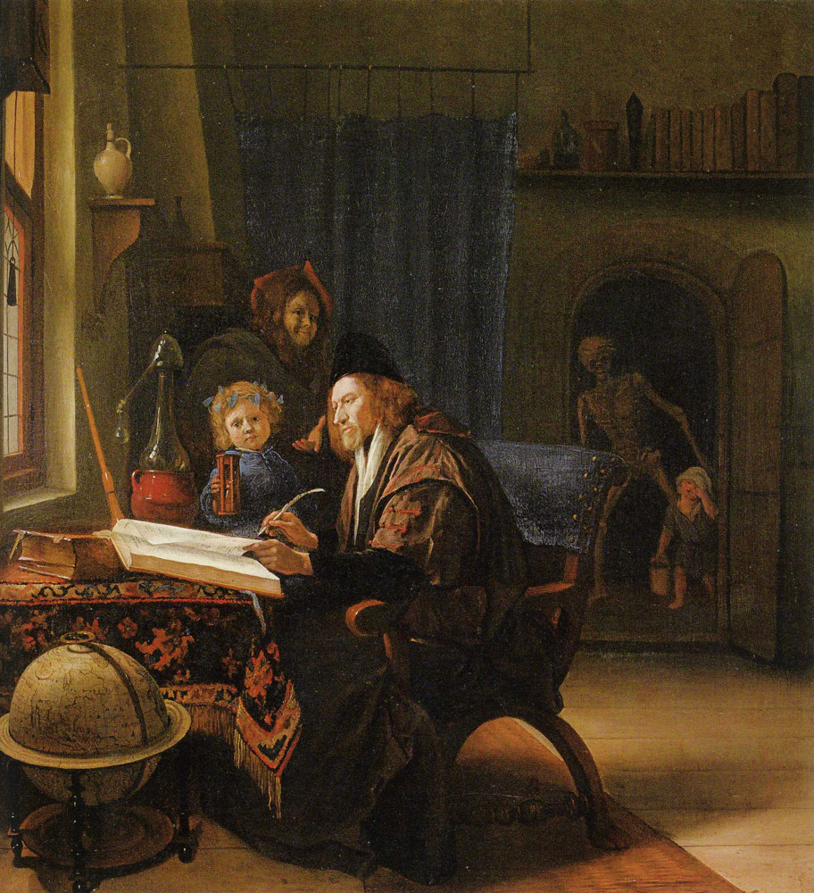 Jan Steen - The Scholar and Death