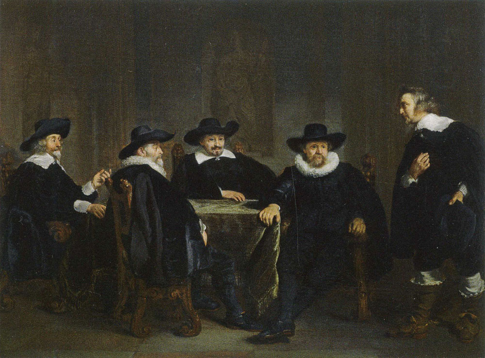Thomas de Keyser - The Burgomasters of Amsterdam Learn of the Impending Visit of Maria de' Medici