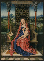 Workshop of Albrecht Bouts Madonna and Child Enthroned