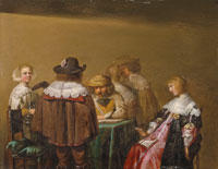 Attributed to Anthonie Palamedesz. A merry company