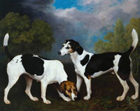 George Stubbs A Couple of Foxhounds