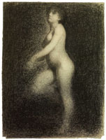Georges Seurat Female Nude
