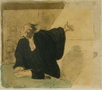 Honoré Daumier A Barrister Pleads the Case