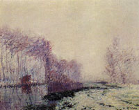 Gustave Loiseau The Eure River in Winter