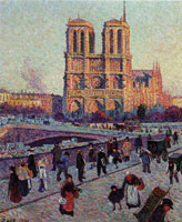 Maximilien Luce The Quai Saint-Michel and Notre-Dame