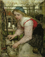 Matthijs Maris Girl at the Pump