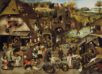 Pieter Brueghel, the Younger The Netherlandish Proverbs