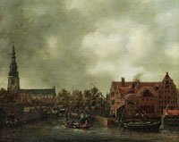 Reinier Zeeman View of Amsterdam with Zuiderkerk and Houtkopersburgwal