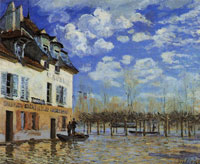Alfred Sisley The Bark during the Flood, Port Marly