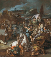 Francesco Solimena - The defeat of Darius by Alexander the Great at the Battle of Issus