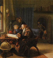 Jan Steen The Scholar and Death