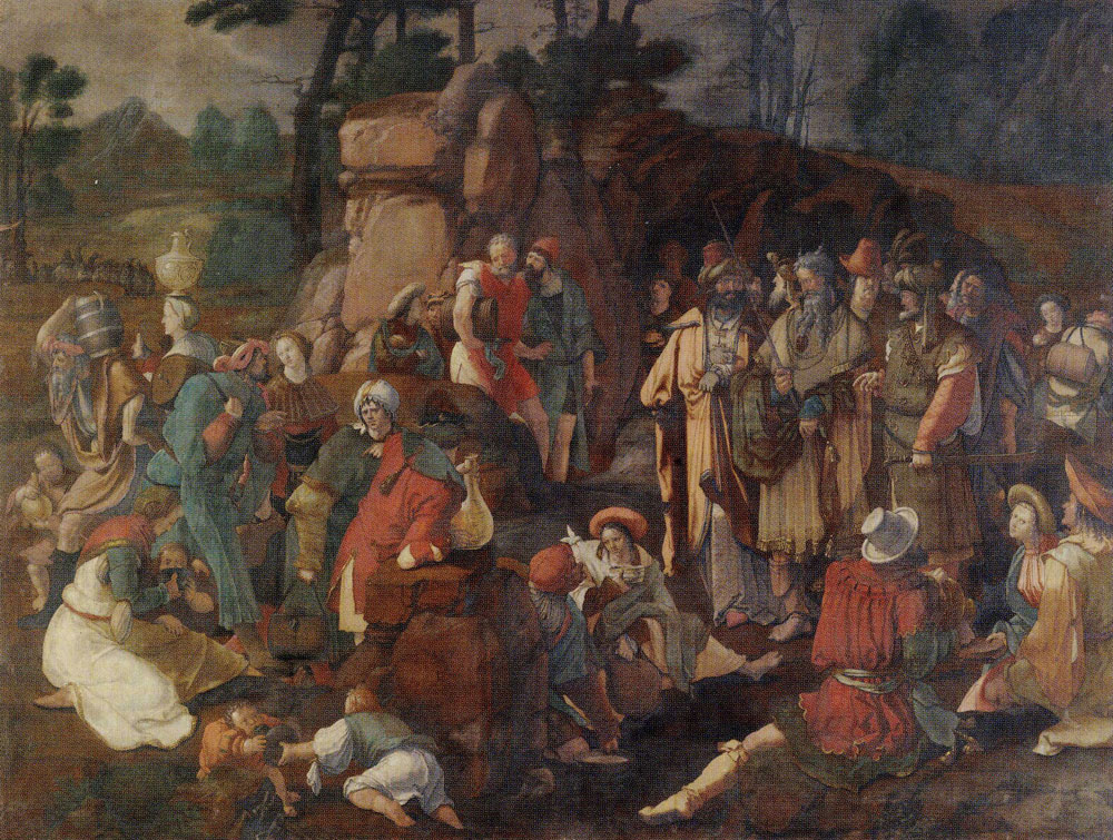 Lucas van Leyden - Moses Striking the Rock