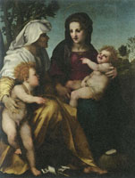Andrea del Sarto The Madonna and Child, Saint Elizabeth and John the Baptist