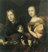 Jan de Baen Self-Portrait with His Wife Maria de Kinderen