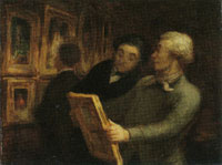 Honoré Daumier The Painting Lovers