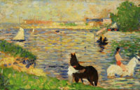 Georges Seurat Horses in the Water