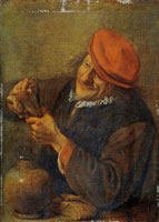 Hendrick Martensz. Sorgh Peasant Eating His Meal