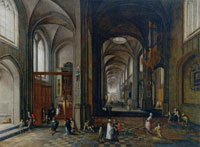 Hendrick van Steenwijck the Younger The Interior of a Gothic Church