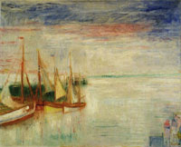 James Ensor Port of Ostend, Twilight in Stormy Weather