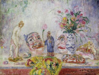 James Ensor Vase, Statuette, Masks and Seashells