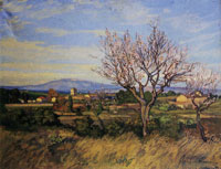 Jean Baltus - Blossoming Almond Trees, Saint-Paul