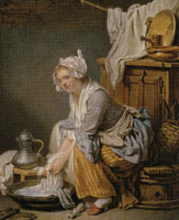 Jean-Baptiste Greuze The Laundress