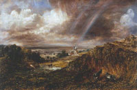 John Constable Hampstead Heath with a Rainbow