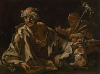 Luca Giordano A Wounded Beggar