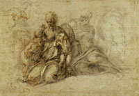 Michelangelo The Holy Family with Infant Saint John the Baptist