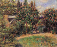 Pierre-Auguste Renoir Railway Bridge at Chaton
