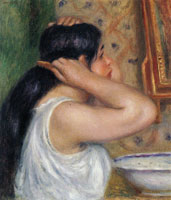 Pierre-Auguste Renoir - The Toilette: Woman Combing Her Hair