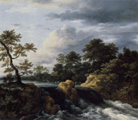 Jacob van Ruisdael Landscape with a Waterfall
