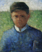 Georges Seurat The Little Peasant in Blue (The Jockey)