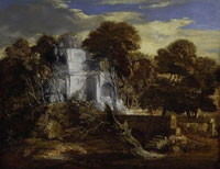 Thomas Gainsborough Landscape with Herdsman and Cows Crossing a Bridge