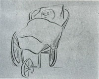 Vincent van Gogh Baby in a Carriage