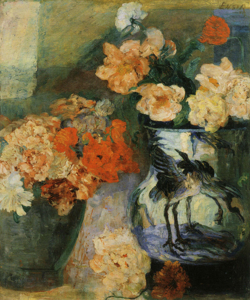 James Ensor - Peonies and Poppies