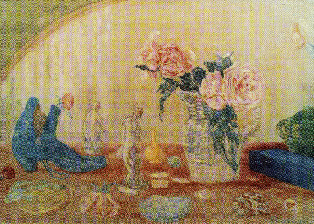 James Ensor - Roses, Tanagra Figures and Boot